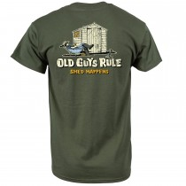 Old Guys Rule Shed Happens Ii T-shirt M, Military Green