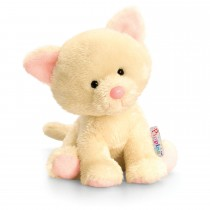 Keel Toys 14cm Pippins Cat, Cream