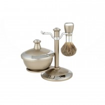 Danielle Exclusive Creations 4 Piece Shaving Set Boxed, Pewter