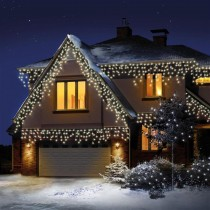 Premier 720 Led Snowing Icicles, White