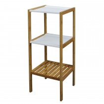 Casa Bathroom 3 Tier Shelf, Brown/ White