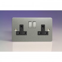 Flat Plate Double Switched Socket