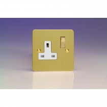 Flat Plate Single Switched Socket