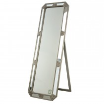 Casa Cheval Mirror With Stand, Grey