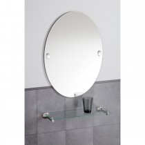 Robert Welch Oblique Wall Mirror, Silver