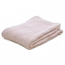 Casa Moss Stitch Throw 125x150, Pink Marl
