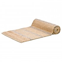 Casa Hemp Stripe Runner 60x230, Natural/grey Stripe