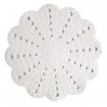 Showerdrape Petal Shower Mat, White