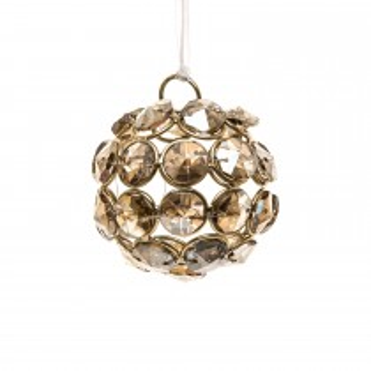Casa Crystal Ball Hanging Decoration, Gold