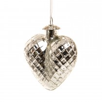 Casa Hanging Heart with Crown, Silver