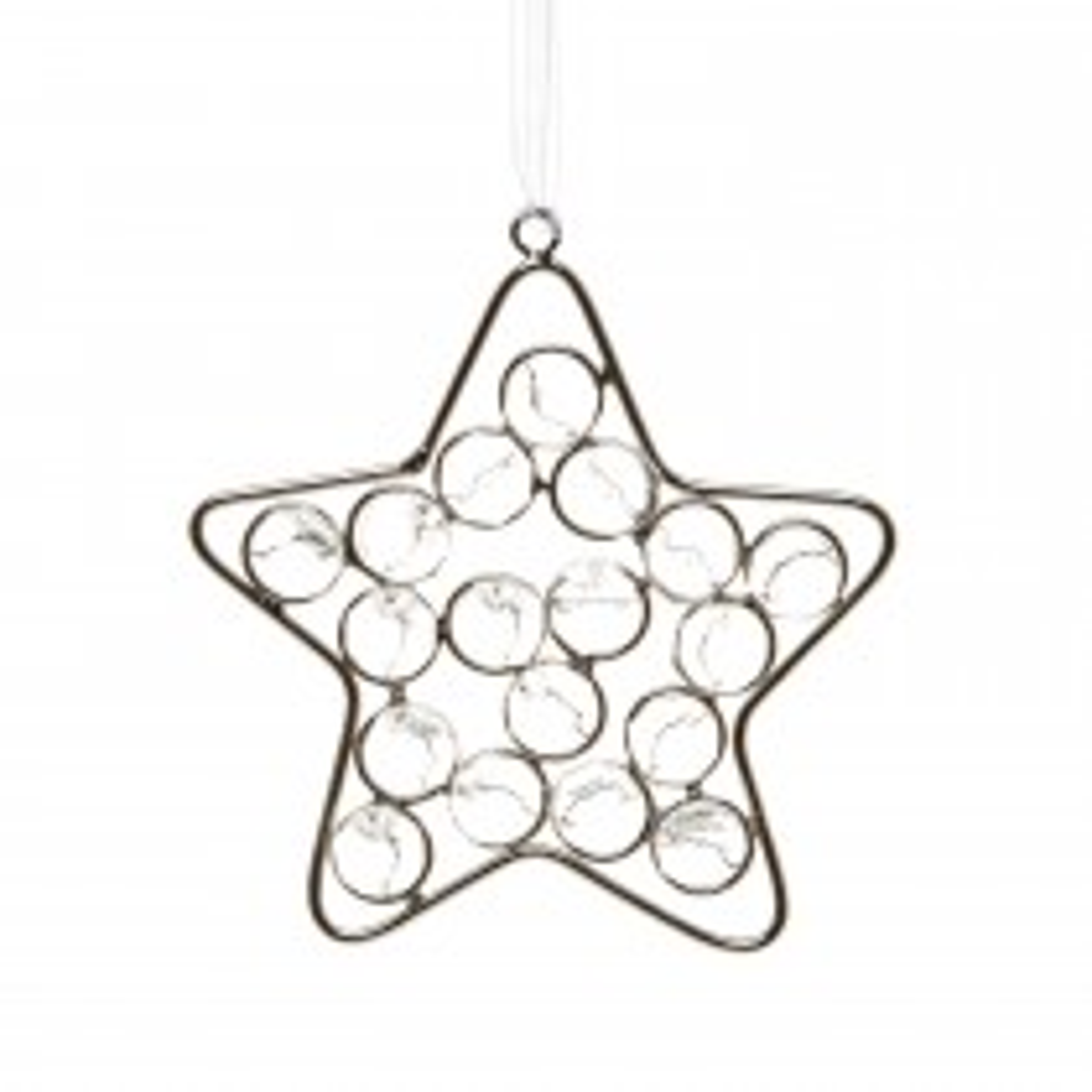 Casa Hanging Crystal Star, Silver