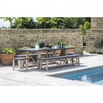 Garden Trading Chilson Table And Bench Set, Cement