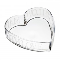 Kitchencraft Artesa Glass Heart Bowl