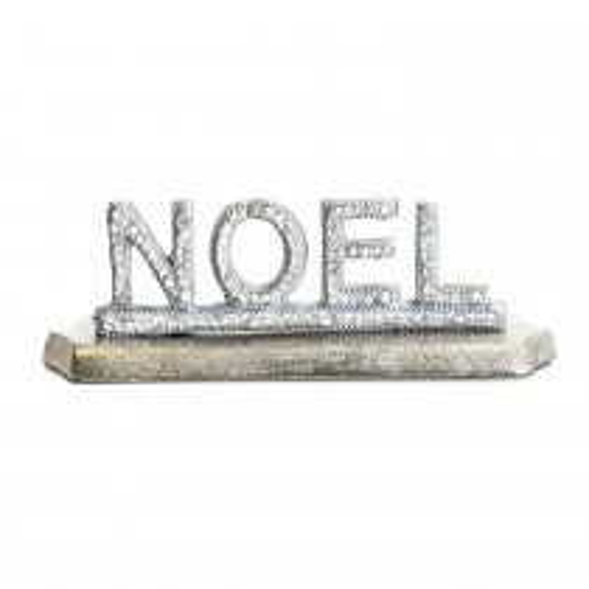Casa Noel Decorative Sign, Silver