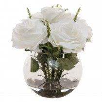 Casa Rose In Glass, Cream