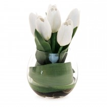 Casa Calla Lily Arrangement In Pot, Cream Green