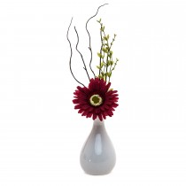 Casa Gerbera Arrangement In Pot, Red