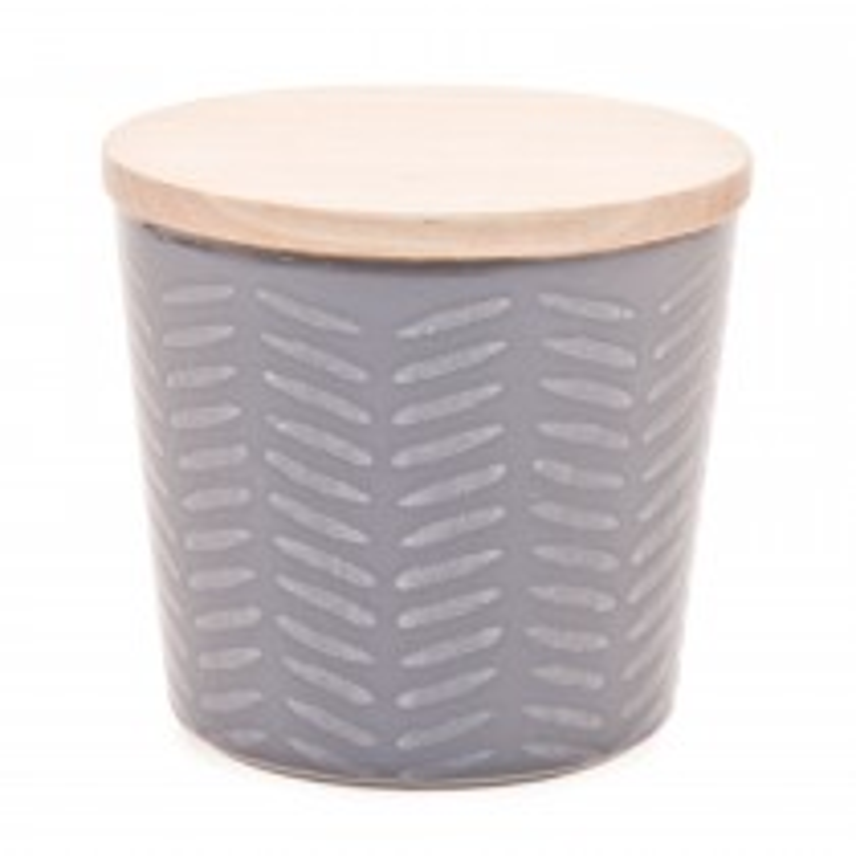 Casa Graphique Storage Jar, Slate