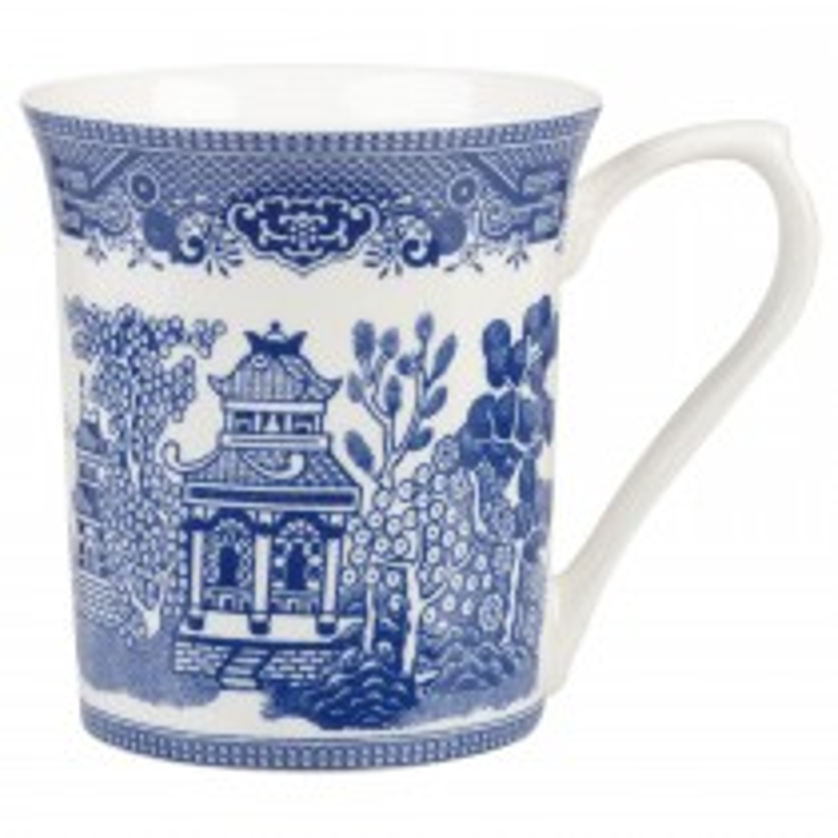 Churchill China Mug Blue Willow 220ml Op Stk 6, White