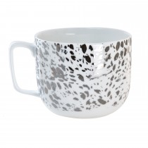 Luminosa Dotted Mug, Silver
