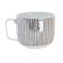 Luminosa Stripe Mug, Silver