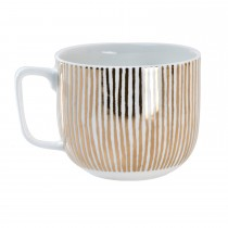 Luminosa Stripe Mug, Gold