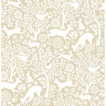 Fine Decor Mirabelle Meadow Wallpaper, Beige
