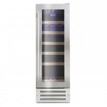 Montpellier 19 Bottle Wine Cooler, Stainless Steel