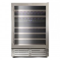 Montpellier 46 Bottle Wine Cooler, Stainless Steel