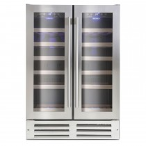 Montpellier 38 Bottle Wine Cooler, Stainless Steel