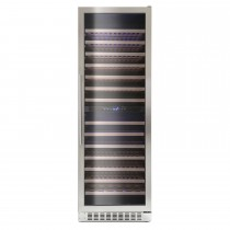 Montpellier 166 Bottle Wine Cooler, Stainless Steel