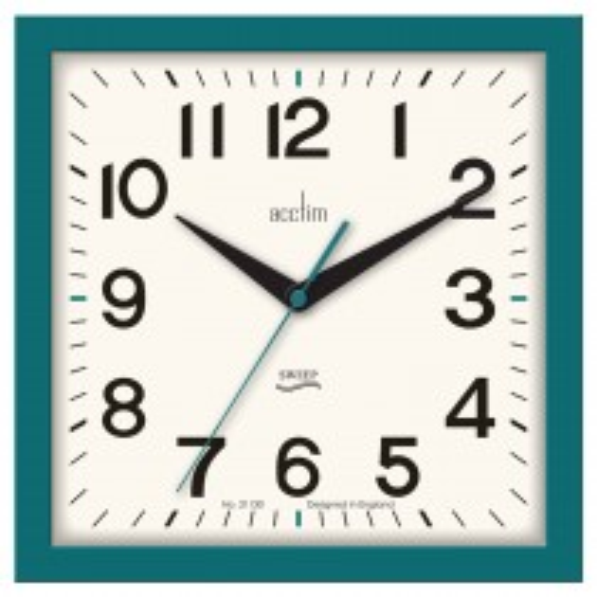 Acctim Rydon Wall Clock, Storm Blue