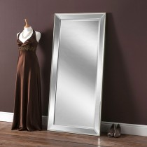Yearn Glass Art 590 Leaner Mirror, Silver