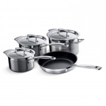 Le Creuset 3-Ply 4 Piece Pan Set, Stainless Steel