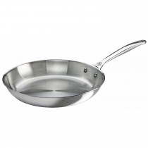 Le Creuset Signature 26cm Uncoated Fry Pan, Stainless Steel