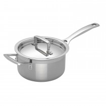 Le Creuset Sig Ss 16cm Saucepan With Lid, Stainless Steel
