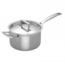 Le Creuset Sig Ss 18cm Saucepan With Lid, Stainless Steel