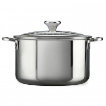 Le Creuset Signature 28cm Stockpot With Lid, Stainless Steel