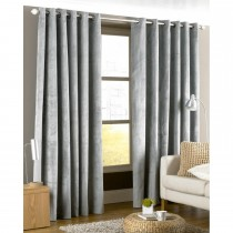 Riva Paoletti Ready Made Curtain Imperial Eyelet 168x183cm, Silver