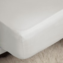 Belledorm Egyption Cotton Fitted Sheet, Single, Ivory