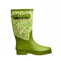 Briers Honeysuckle Fabric Boot Size 8, Green