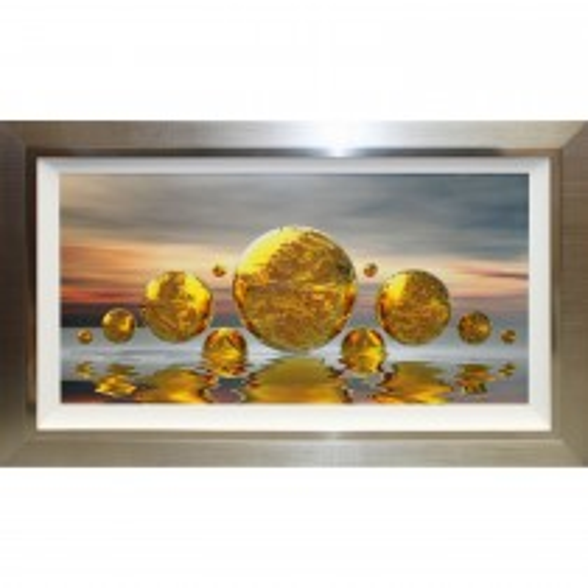 Complete Colour Planet Reflections Liquid Art, Gold
