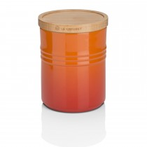 Le Creuset Stoneware Medium Storage Jar, Wooden Lid,  Volcanic