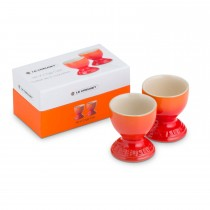 Le Creuset Set Of 2 Egg Cups, Volcanic