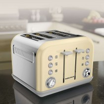 Morphy Richards Accents 4 Slice Toaster, Cream