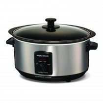 Morphy Richards 3.5l Aluminium Slow Cooker, Brushed