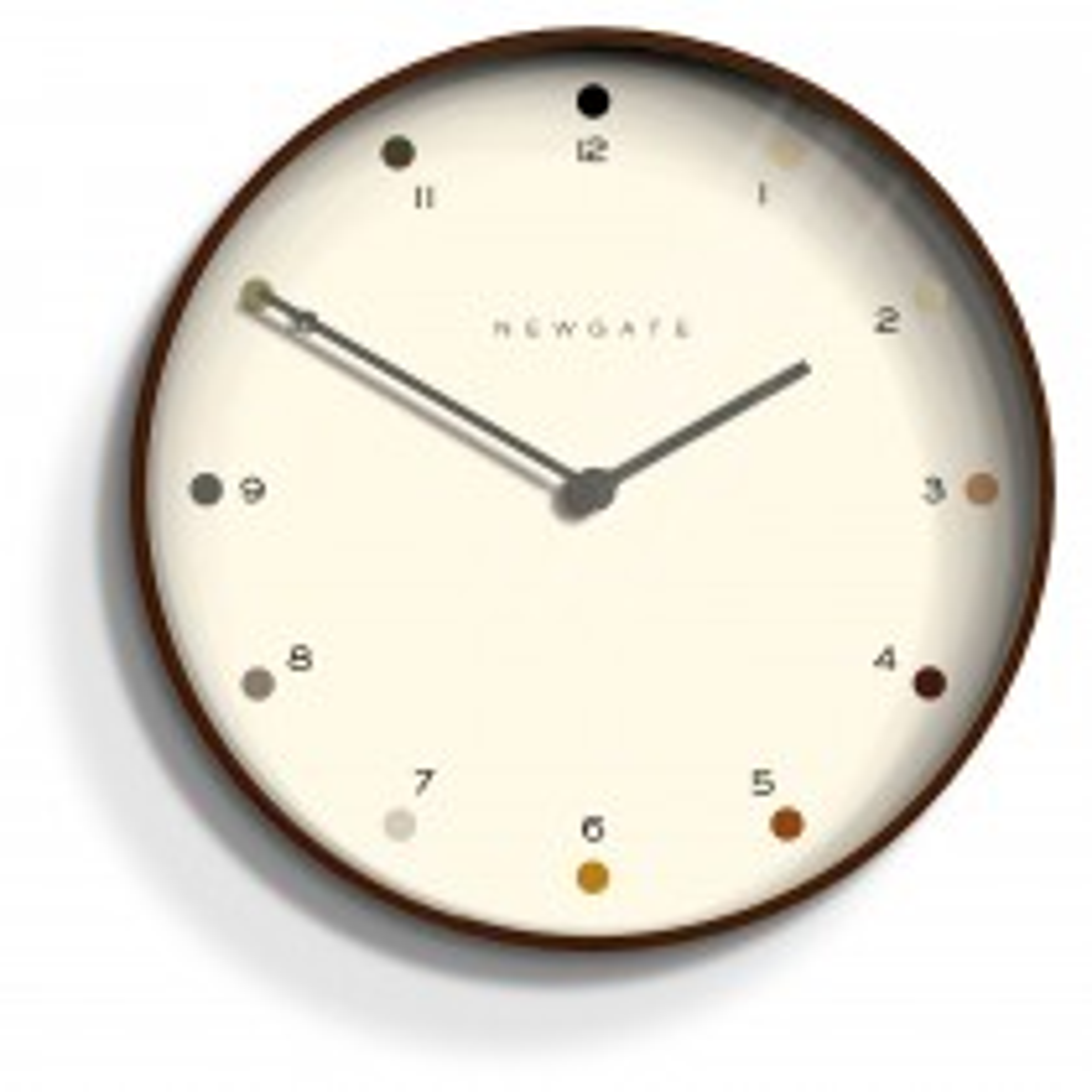 Newgate Clocks Mr Clarke Wall Clock, Dark Plywood