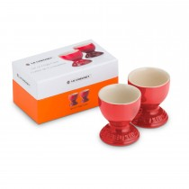 Le Creuset Set Of 2 Egg Cups, Cerise