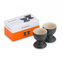 Le Creuset Set Of 2 Egg Cups, Satin Black