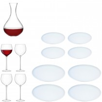 Lsa Aura Dine Set, Clear